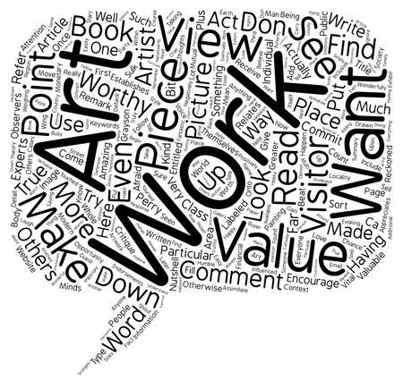 valuable: What Makes Art Valuable text background wordcloud concept Illustration