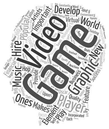 constantly: What It Makes A Video Game Popular text background wordcloud concept