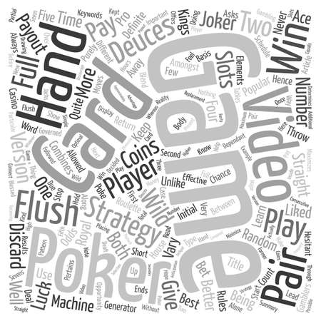 combines: Video Poker Like a Pro text background wordcloud concept