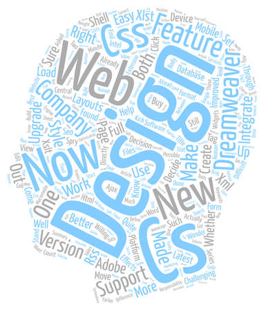 cs: Web Design Series Dreamweaver And CS What s The Difference text background wordcloud concept Illustration