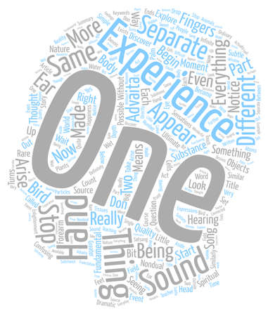 oneness: What Is Advaita Or Oneness text background wordcloud concept
