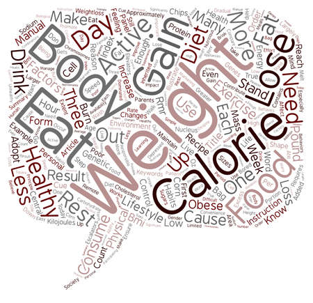 Weight Loss Starts in Your Head text background wordcloud concept Illustration