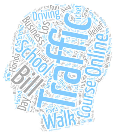 bleak: Walk In Traffic Schools A Bleak Future text background wordcloud concept Illustration