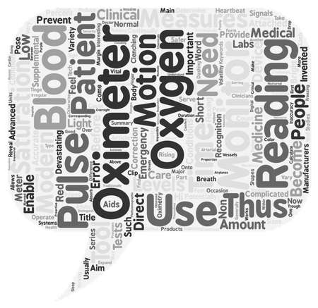 measures: What Is An Oximeter text background wordcloud concept Illustration