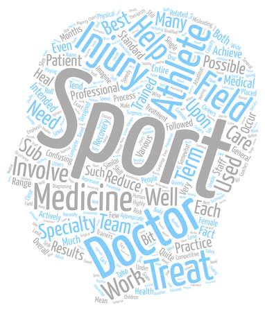 sports medicine: What is Sports Medicine text background wordcloud concept