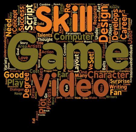 re design: Video Game Design Requires Multiple Talents text background wordcloud concept Illustration
