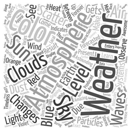 will: Weather Changes Can Determine What Color The Sky Will Be text background wordcloud concept