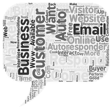 ways to achieve online success with email autoresponders text background wordcloud concept