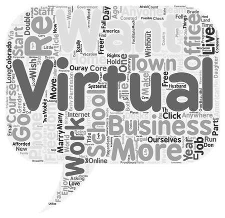 anywhere: Virtual Freedom text background wordcloud concept