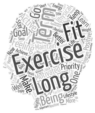 long term: What Can We Learn From Long Term Exercisers text background wordcloud concept Illustration