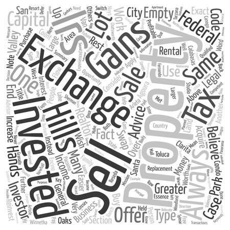 What is a Exchange text background wordcloud concept Illustration