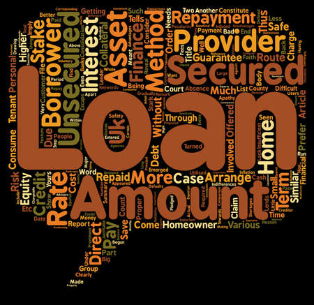 Unsecured Loans Route to Finance in the Absence of Guarantee text background wordcloud concept
