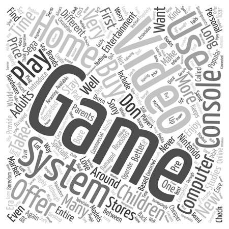 used: used video game systems text background wordcloud concept