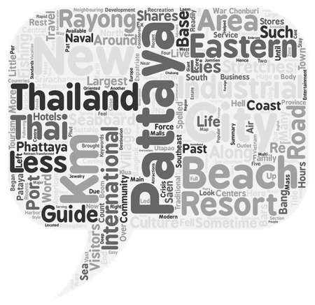 travel guide: Travel Guide Of Pattaya text background wordcloud concept
