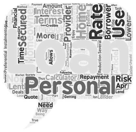 homeowner: Use Homeowner personal loans to finance your needs the secured way text background wordcloud concept