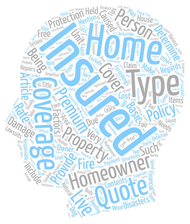 resourceful: Tips On Homeowners Insurance Simplified text background wordcloud concept Illustration