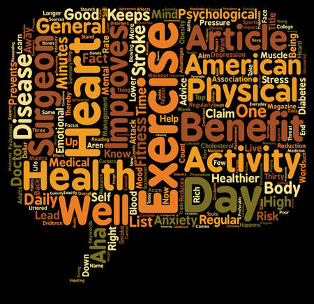 healthier: Thirty Minutes of Exercise a Day Keeps the Doctor Away text background wordcloud concept