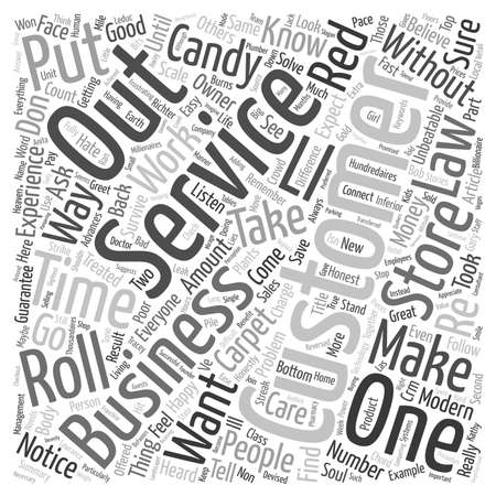 unbeatable: The Unbeatable Laws Of Customer Service text background wordcloud concept