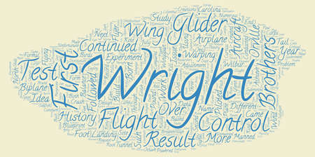 wright: The History of the Airplane text background wordcloud concept