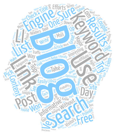 The Future On SEO For Bloggers text background wordcloud concept Illustration