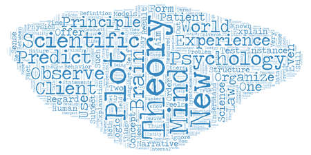 theories: The Fundamentals of Psychological Theories text background wordcloud concept Illustration