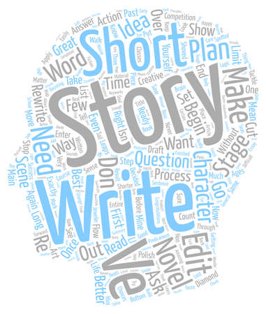 The Long And The Short Of The Short Story text background wordcloud concept Ilustrace