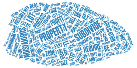 apalancamiento: The Guide to Subdivide text background wordcloud concept