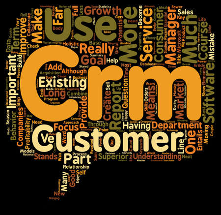 The Importance Of C In CRM text background wordcloud concept