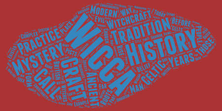 The History of Wicca Where Did The Craft Originate text background wordcloud concept