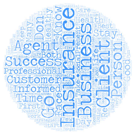 personally: The Insurance Agent s Guide To Success text background wordcloud concept