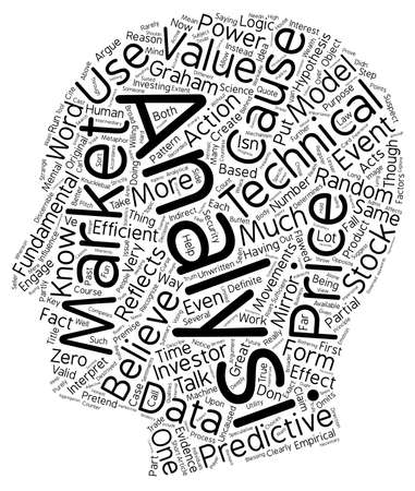 lógica: The Logic Behind Technical Analysis text background wordcloud concept