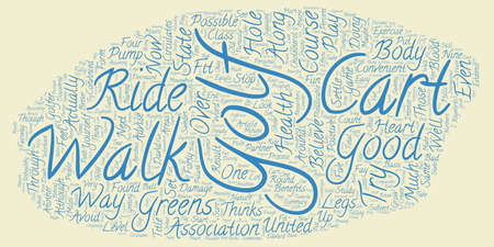 The Health Benefits Of Golf text background wordcloud concept