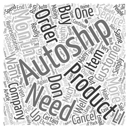 small articles: The Myth Of AutoShip text background wordcloud concept