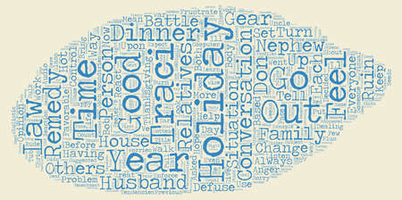 relatives: The holidays are upon us text background wordcloud concept Illustration