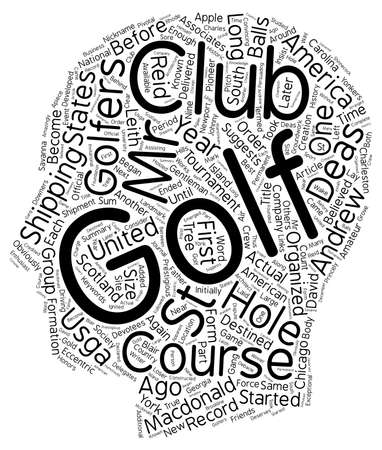 The History Of Golf In America Part One text background wordcloud concept Illustration