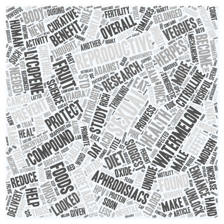 fabled: The New Aphrodisiacs Foods For Sexual and Reproductive Heal text background wordcloud concept Illustration