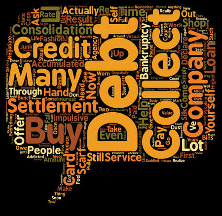 cons: The Pros And Cons Of Credit Card Debt Settlement text background wordcloud concept