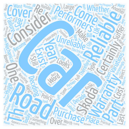 reliable: The Most And Least Reliable Cars How Reliable Is Your Car text background wordcloud concept