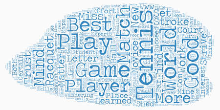 The Fundamentals Of Tennis text background wordcloud concept Illustration