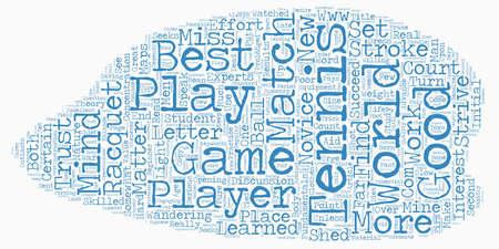 fundamentals: The Fundamentals Of Tennis text background wordcloud concept Illustration