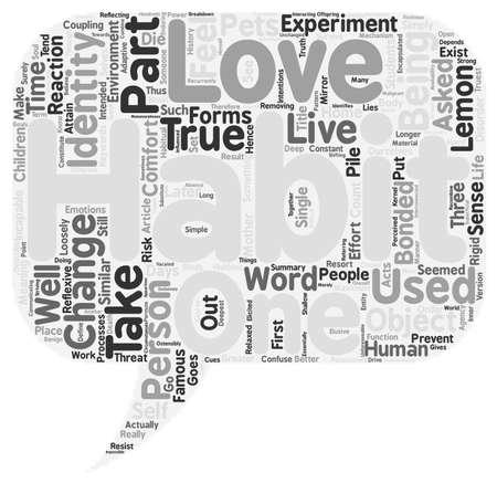 habit: The Habit of Identity text background wordcloud concept Illustration
