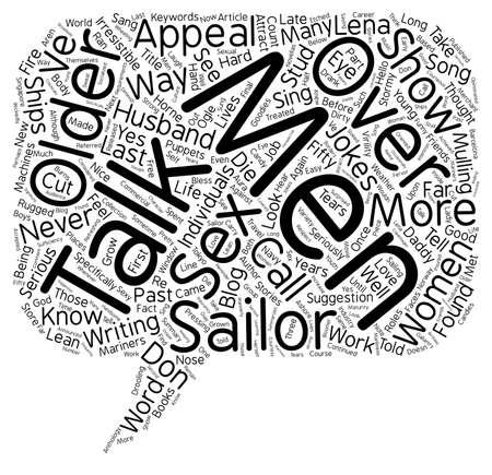 joking: The Appeal Of Older Men text background wordcloud concept