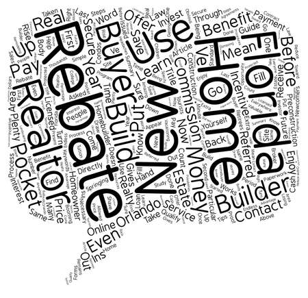 rebate: The Florida Buyers Rebate is Money in Your Pocket text background wordcloud concept