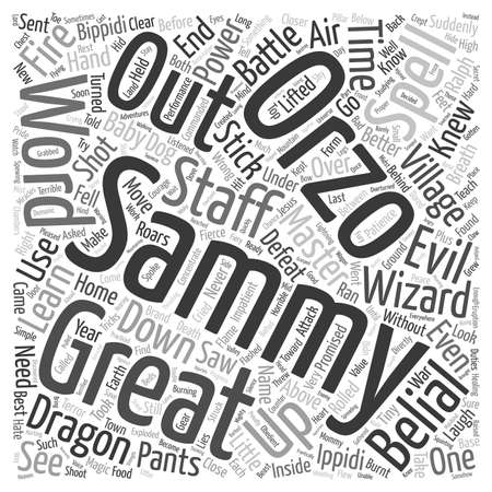 The Brand New Wizard text background wordcloud concept Illustration