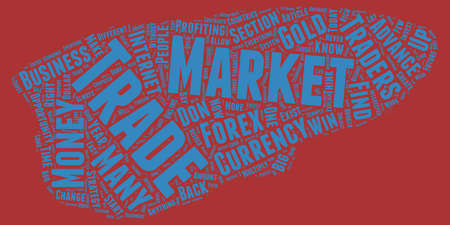 profiting: The Forex Market text background wordcloud concept
