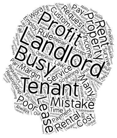 landlord: The Costliest Landlord Mistakes text background wordcloud concept Illustration