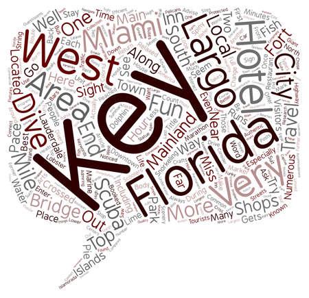 The Florida Keys text background wordcloud concept