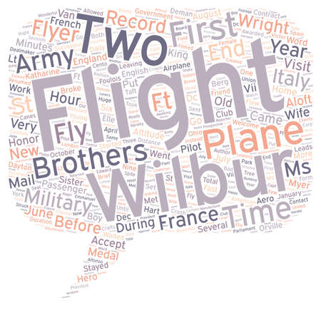 The First Military Flyer text background wordcloud concept