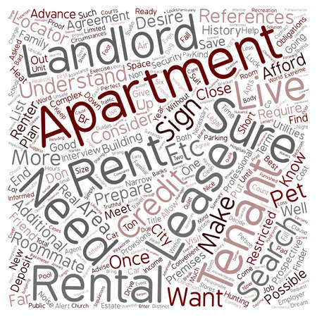 apartment search: The Apartment Search text background wordcloud concept Illustration