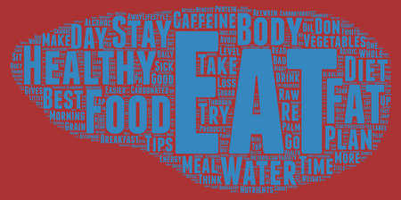 determine: The Foods You Eat Determine Your Health text background wordcloud concept